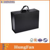 Коробка черного роскошного пакета подарка складная сложенная складывая бумажная