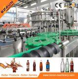 Bebidas no alcohólicas en botella plástico que llenan capsulando 3 en 1 máquina
