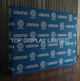 La vente en gros d'usine annonçant la promotion en aluminium portative et modulaire de matériel de drapeau d'exposition de cabine d'exposition de tissu sautent vers le haut le produit de présentoir de mémoire