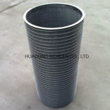 Inverted Wedge Wire Wrapped Water Well Screens Cilindro para filtro industrial