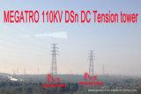 Doppia torretta della trasmissione di tensionamento del circuito di Megatro 110kv Dsn