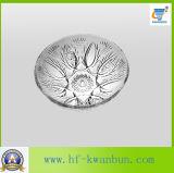 Los platos redondos borran el vajilla Kb-Hn0391 de la placa de cristal