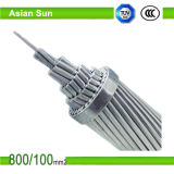 Conductores de aluminio ACSR reforzado acero para la línea de transmisión