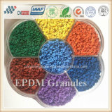 Grânulo de borracha de EPDM para a trilha Running plástica, grama artificial, pista de decolagem
