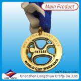 2014 o Custom o mais novo Sport Medals Gold Taekwondo Medal com Epoxy Domed (lZY-201300046)