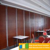 Particiones movibles acústicas de la pared del restaurante con el sistema colgante superior