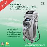 Equipo de la belleza del retiro del pelo de la máquina IPL Shr del retiro del tatuaje del laser de E6s E-Light+RF+ND YAG