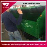 Prende e scarica l'autocarro con cassone ribaltabile riciclabile dell'immondizia