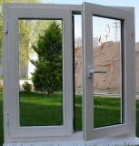 Casement PVC качания высокого качества застекленное двойником окно открытого стеклянное от Китая (PCW-043)