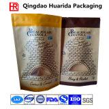 Biodegradierbarer Fastfood- wasserdichter Packpapier-verpackenbeutel mit Reißverschluss