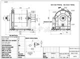 500kn/ворот зачаливания 50 тонн гидровлический с снуя концом и муфтой