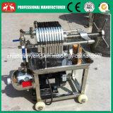 Máquina inoxidável pequena do filtro da placa e do óleo do frame