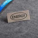 Etiqueta tecida do vestuário do tipo da forma dos homens logotipo feito sob encomenda