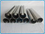 Tubi scanalati saldati dell'acciaio inossidabile singoli nella figura rotonda