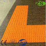 Mattonelle di gomma di vendita della strada del pavimento tattile caldo del PVC per i ciechi
