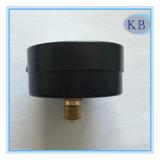 """سوداء فولاذ حالة 2.5 """" نوع جافّ ضغطة مقياس إلى الخلف توصيل"""