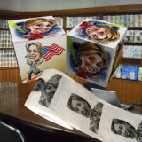 Hilary imprimiu a toalha de papel de tecido do banheiro da novidade do papel higiénico