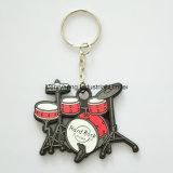 Kundenspezifische fördernde weiche Belüftung-Schlüsselketten-Schlüsselmarken-Schlüsselring-Karikatur Keychain
