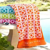 Essuie-main de plage estampé par coton de couverture de plage de velours