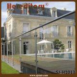 Ausgeglichenes Glas-Balkon-Geländer-Edelstahl-/Glasplattform-Geländer (SJ-S348)