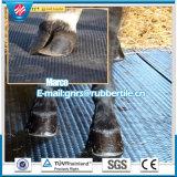 Azulejos estables de goma de la estera de la estera del caballo de la vaca del resbalón de la estera del paño de la hoja de goma de goma anti de goma animal de la inserción