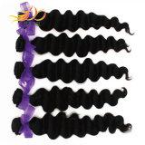 100%のマレーシア人のバージンの毛の緩く深い波の人間の毛髪の編むこと