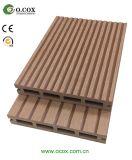 Decking composto plástico de madeira do Decking ao ar livre do revestimento de WPC