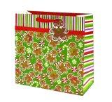 Sacos de papel do presente do Natal com selos do Glitter e da folha, saco de papel do presente, saco do papel de embalagem