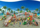 Спортивная площадка детей Kaiqi напольная совместила с каналом Stainles сетчатым, скольжениями так же, как другие игры (KQ60123A)