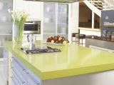 Brame conçue blanche de pierre de quartz pour des dessus de table, des partie supérieure du comptoir et le revêtement de mur