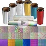 Hologramme/laser/roulis de film olographe pour l'empaquetage/impression/laminage/le Cadeau-Emballage/collants