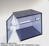 Boîte à papier en acrylique personnalisée en couleur couleur avec biseau