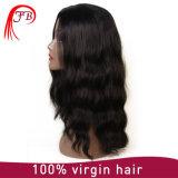 Cabelo brasileiro do cabelo humano peruca cheia do laço