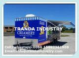 Reboques móveis galvanizados mergulhados inteiramente quentes Van do caminhão do alimento