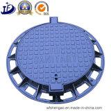 Kundenspezifische Sand-Gussteil-runde Einsteigeloch-Deckel für Verkehrssicherheit-Produkte/Entwässerung