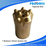 Tungsten conique Carbide Button Rock Drill Bit pour Rock Drilling