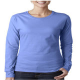 Guangzhou fábrica de la promoción Las mujeres peinados de algodón T-Shirt