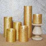 Prix d'or à télécommande de bougie de paraffine de bougie de cire de lumière de thé de la bougie DEL