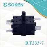 Interruptor rotatorio 16A 250V T100 de la posición eléctrica del horno 4 de Soken