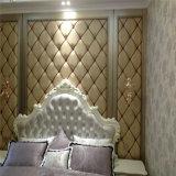 Panneau de décoration acoustique en plastique 3D Panneau de décoration Soft Roolls Canapé souple en cuir PU