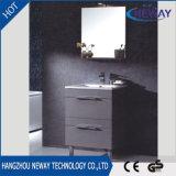 Nuovo pavimento che si leva in piedi la mobilia del Governo di stanza da bagno del PVC con lo specchio
