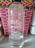 Trinkende Großhandelsflasche, leere Glasflasche, trinkender Glasbehälter