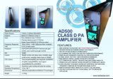 7channel 500With100V/Channel, 7unit en un caso, mono amperio cada unidad