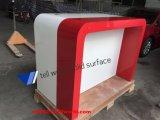 Weiß und roter System-Bildschirmanzeige-Kostenzähler-Tisch konzipieren hohen Bildschirmanzeige-Tisch