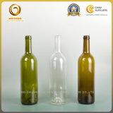 De super Fles van het Glas van de Kwaliteit 750ml Bordeaux met Houten Cork Bovenkant (349)