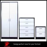 Conjunto de dormitorio popular de los muebles del diseño del vector de preparación del guardarropa del color del doble del espejo