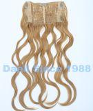 Clip de una pieza en la extensión del pelo