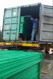 Rete fissa verde e blu dei piedi del ferro di colore della rete metallica