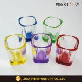 60ml färbte unteres quadratisches Schuss-Glas-Set