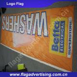 Poliéster que anuncia a bandeira, bandeira do indicador, bandeira do costume da impressão